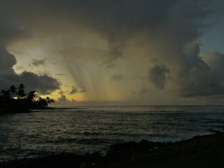 Poipu condo photo - Showers at sunrise