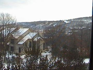 Tannersville townhome rental - Winter view from master bedroom