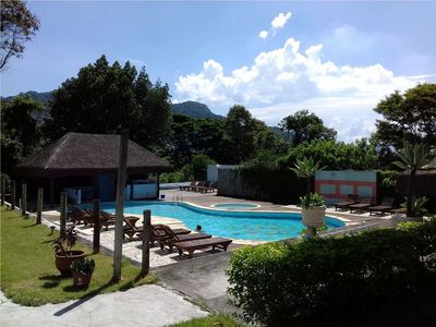 Mansion with pool, barbecue and views of the Christ the Redeemer