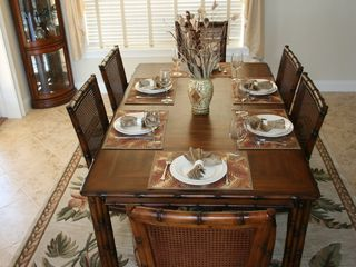 Flagler Beach house photo - Table is ready for your relaxing meals.