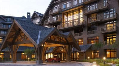 Stowe condo rental - Stowe Mountain Lodge -arrival, valet