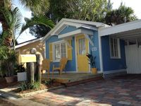 'Old Florida' Key West style beach cottage just steps to the pristine sands.