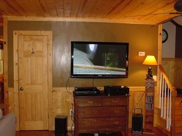50'' flat screen TV and DVD player