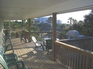Folly Beach house photo - Covered porch and sundeck with BBQ - Ocean View!