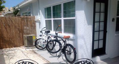 Take the bikes to dinner at John's pass! Equipped with lights and locks!