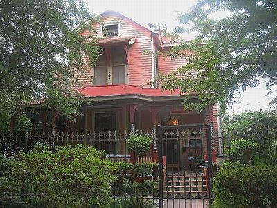 The 'Big Nest', an 1898 Victorian Farmhouse in Houston's Museum District.