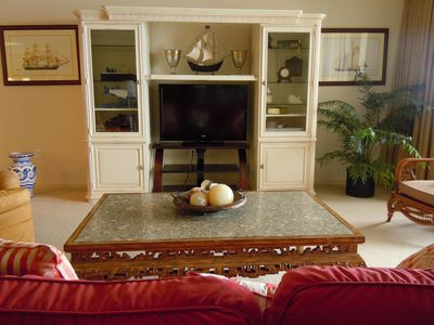 Television cabinet with dvd player