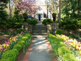 East Hampton house photo - Front walk in spring