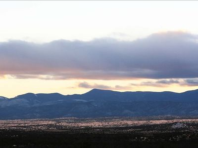 View of Jemez Mountains.
