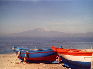 Reggio Calabria City villa photo - beautiful view of Etna Vulcano