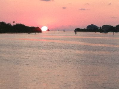 spectacular sunset from our dock. that's the Gulf of Mexico
