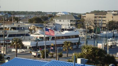 Big boats for sunset and dinner/dance cruises. Or book a deep sea fishing trip.