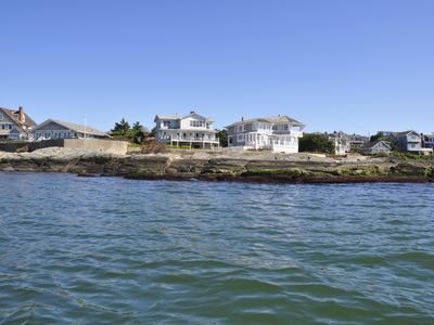 Newport house rental - view from kayak in the water