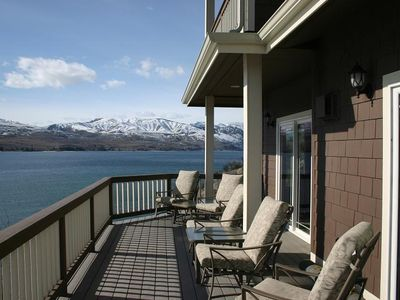Large wrap-around deck with fantastic views; umbrellas provided
