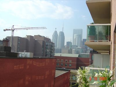 View of downtown Toronto from balcony