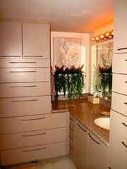 Phoenix condo photo - bathroom with granite countertops and custom storage cabinets