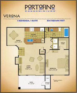Ahwatukee condo rental - Floor plan