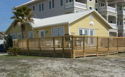 Front of house from beach access.