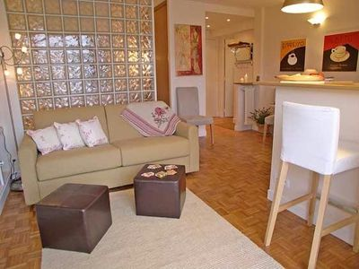 Grenache after christmas sale studio with balcony a c - Glass block windows in living room ...