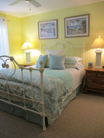 Bright and cheery master bedroom with TV, huge closet and 3 piece ensuite.
