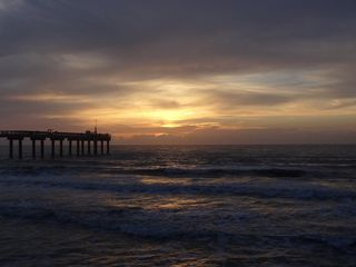 St. Augustine Beach condo photo - Sunrise at the pier across the street - BEAUTIFUL!