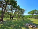 Backyard facing the Valley - Oak trees frame the valley views.  Walking trails to Barton Creek are just steps away.