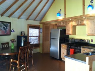Ithaca cottage photo - Fully equipped kitchen w/ dining for 6. Local coffee and chocolate in the fridge