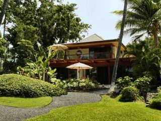 Kailua Kona house photo - Looking back at the Property from the Pathway to the Ocean