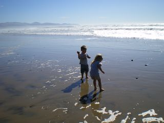 Oceanside house photo - Grandkids on the beach last summer.