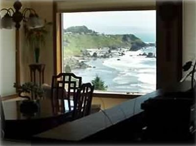 DINING/SITTING ROOM WITH VIEW!