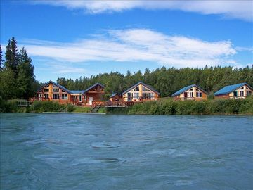 Soldotna lodge rental - Our Riverfront Lodge, our cabins are only feet from the Kenai River