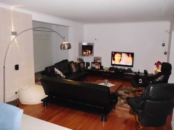 Lounge area showing fireplace