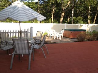 Hampton Bays house photo - Enjoy peace and relaxation in the sparkling Hot tub!
