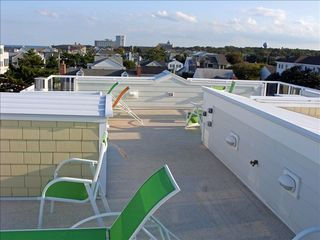 Virginia Beach house photo - 4th level 35' Deck w/ wonderful view of ocean - Sunrise & Sunset