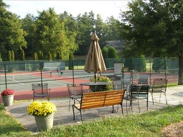Kenmure's hard and soft-surface tennis courts use is complimentary during stay