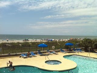 Large Outdoor Pool - Ocean Drive Beach condo vacation rental photo