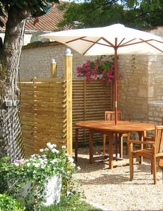 Private terrace w barbeque Gite l'Atelier