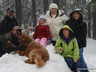 Mount Lassen house photo - Winter Family Fun. bowwow!