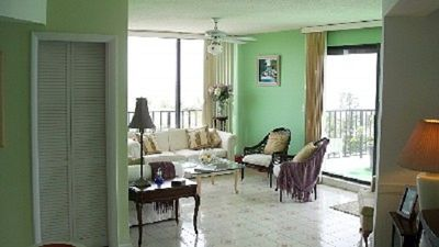 Grand Bahama Island condo rental - Open floor plan open to roof terrace & beach views