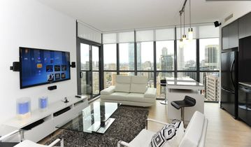 Toronto condo rental - Living room