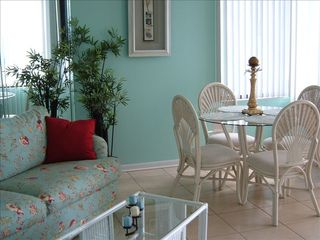 Thomas Drive Area condo photo - Eat, play cards or just enjoy chatting around the dinette