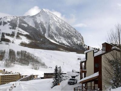 Crested Butte townhome rental - Winter view from hot tub, only 22 steps away