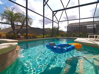 Emerald Island villa photo - Swim in your own private (heated) pool by day and relax in the hot tub by night!