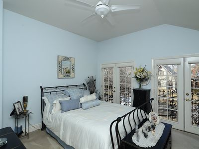 Front BR with Juliet glass door in the New Orleans tradition! 3rd BR is office.