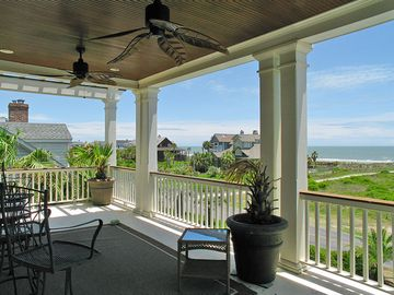 Second floor porch overlooking ocean and right off the living room.