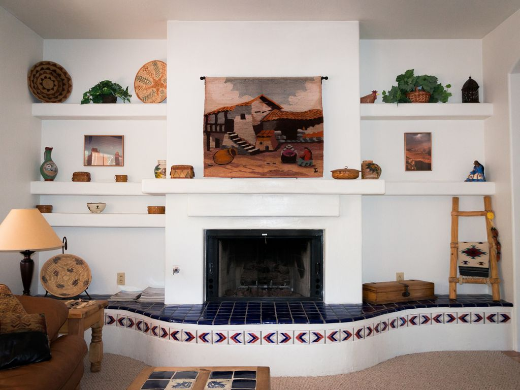 spend a cozy evening by the fireplace in the family room