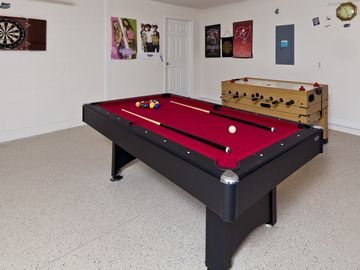 Pool table and darts