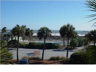 view of ocean from private balcony - Isle of Palms condo vacation rental photo