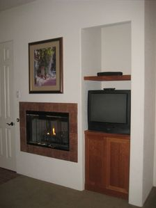 Auto ignite fire place - TV and VCR
