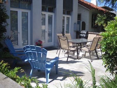 Mission Beach condo rental - Large, private patio for entertaining!